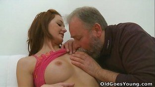 Old Goes Young - Elizaveta is obsessed with older men
